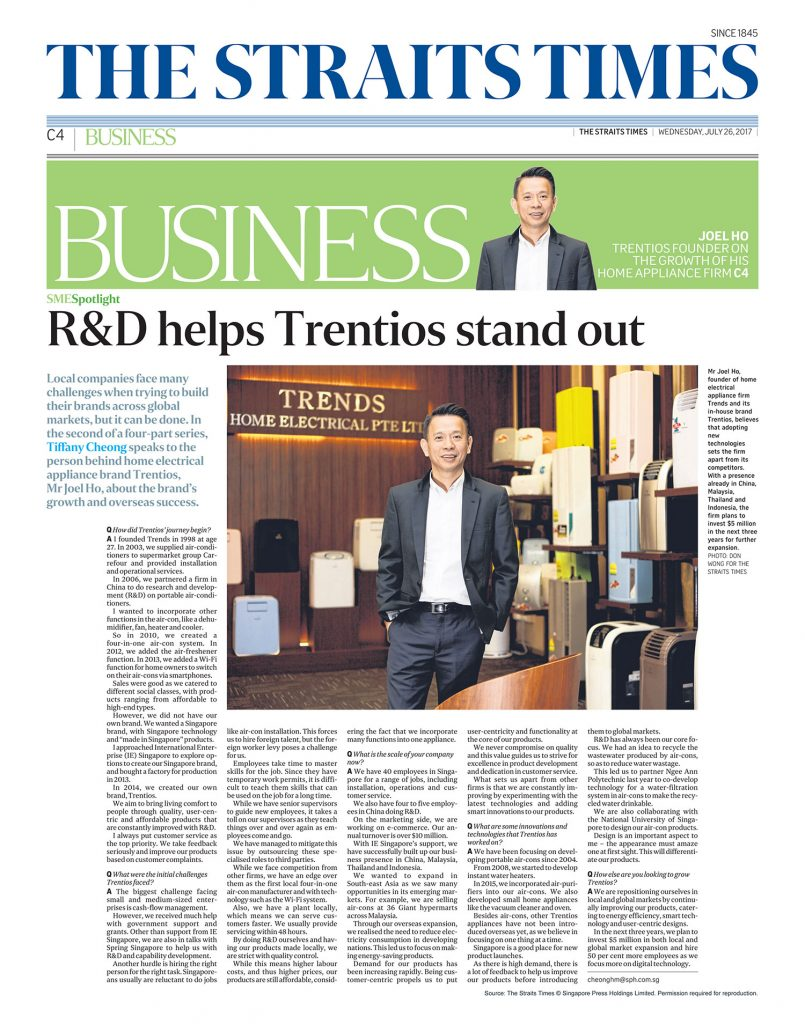 R&D HELPS TRENTIOS STAND OUT