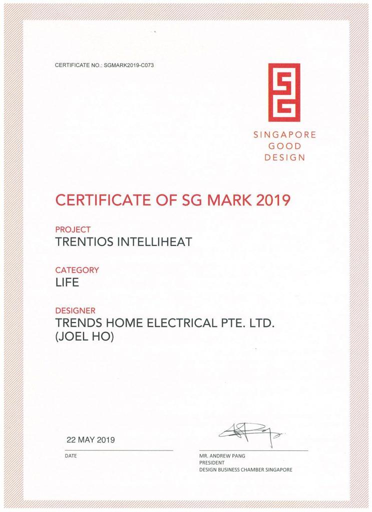 Zenith T1 Water Heater SG Marks Awards